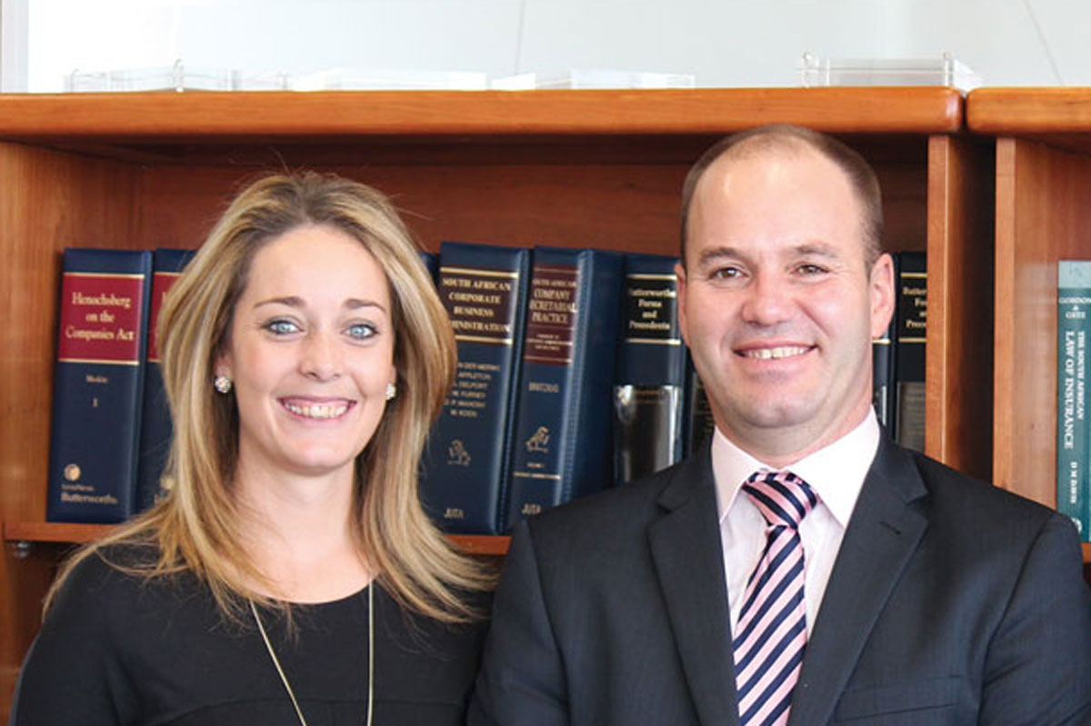 AFGRI Legal Team - Robyn van Heerden and Pieter Badenhorst
